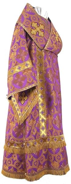 Bishop vestments - rayon brocade S3 (violet-gold)
