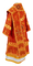 Bishop vestments - Theophania rayon brocade S3 (red-gold) back, Standard design