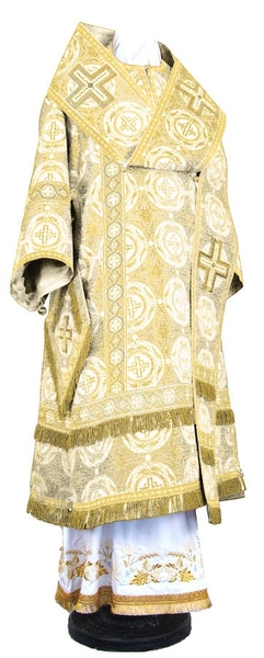 Bishop vestments - rayon brocade S3 (white-gold)