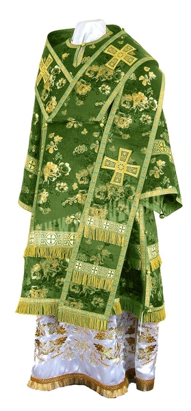Bishop vestments - rayon Chinese brocade (green-gold)