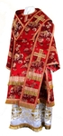 Bishop vestments - rayon Chinese brocade (red-gold)
