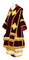Bishop vestments - natural German velvet (claret-gold), Premium design