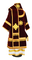 Bishop vestments - natural German velvet (claret-gold) back, Premium design