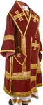 Bishop vestments - natural German velvet (claret-gold)