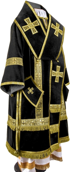 Bishop vestments - natural German velvet (black-gold)