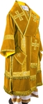 Bishop vestments - natural German velvet (yellow-gold)
