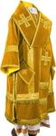 Bishop vestments - natural German velvet (yellow-gold)