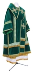 Bishop vestments - natural German velvet (green-gold)
