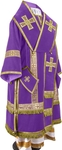Bishop vestments - natural German velvet (violet-gold)