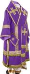 Bishop vestments - natural German velvet (violet-gold)