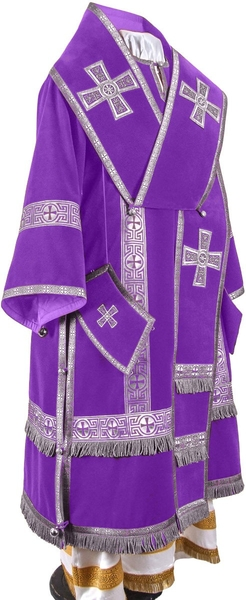 Bishop vestments - natural German velvet (violet-silver)