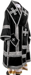 Bishop vestments - natural German velvet (black-silver)