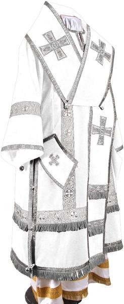 Bishop vestments - natural German velvet (white-silver)