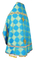 Russian Priest vestments - Kolomna metallic brocade B (blue-gold) back, Standard design
