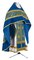 Russian Priest vestments - Corinth metallic brocade B (blue-gold) with velvet inserts, Standard design