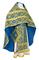 Russian Priest vestments - Nicholaev metallic brocade B (blue-gold), Standard design