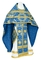 Russian Priest vestments - Nativity Star metallic brocade B (blue-gold), Standard design