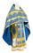 Russian Priest vestments - Polotsk metallic brocade B (blue-gold), Econom design