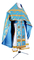 Russian Priest vestments - Vinograd metallic brocade B (blue-gold) back, Premium cross design