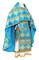 Russian Priest vestments - Kolomna metallic brocade B (blue-gold), Standard design