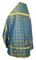 Russian Priest vestments - Old Greek metallic brocade B (blue-gold) back, Standard design