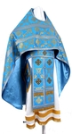 Russian Priest vestments - metallic brocade B (blue-gold)