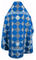 Russian Priest vestments - Kolomna metallic brocade B (blue-silver) back, Standard design