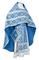 Russian Priest vestments - Nicholaev metallic brocade B (blue-silver), Standard design