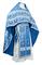 Russian Priest vestments - Old Greek metallic brocade B (blue-silver), Standard design