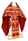 Russian Priest vestments - Nativity Star metallic brocade B (claret-gold), Standard design