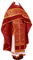 Russian Priest vestments - Czar's Cross metallic brocade B (claret-gold) with velvet inserts, Standard design