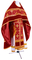 Russian Priest vestments - Belozersk metallic brocade B (claret-gold) with velvet inserts, Standard design