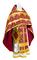 Russian Priest vestments - Polotsk metallic brocade B (claret-gold), Econom design