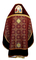 Russian Priest vestments - Custodian metallic brocade B (claret-gold) back, Standard design