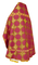 Russian Priest vestments - Kolomna metallic brocade B (claret-gold) back, Standard design
