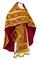 Russian Priest vestments - Nicholaev metallic brocade B (claret-gold), Standard design