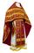 Russian Priest vestments - Old Greek metallic brocade B (claret-gold), Standard design