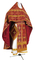 Russian Priest vestments - Custodian metallic brocade B (claret-gold), Standard design