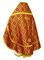 Russian Priest vestments - Nicholaev metallic brocade B (claret-gold) back, Standard design