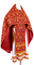 Russian Priest vestments - Loza metallic brocade B (claret-gold), Standard design