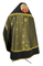 Russian Priest vestments - Corinth metallic brocade B (black-gold) with velvet inserts (back), Standard design