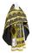 Russian Priest vestments - Polotsk metallic brocade B (black-gold), Econom design