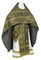 Russian Priest vestments - Floral Cross metallic brocade B (black-gold), Standard design