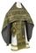 Russian Priest vestments - Floral Cross metallic brocade B (black-gold), Standard design