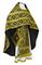 Russian Priest vestments - Nicholaev metallic brocade B (black-gold), Standard design