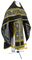 Russian Priest vestments - Belozersk metallic brocade B (black-gold) with velvet inserts, Standard design