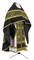 Russian Priest vestments - Corinth metallic brocade B (black-gold) with velvet inserts, Standard design