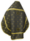 Russian Priest vestments - Mirgorod metallic brocade B (black-gold) with velvet inserts (back), Standard design