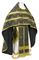 Russian Priest vestments - Mirgorod metallic brocade B (black-gold) with velvet inserts, Standard design