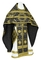 Russian Priest vestments - Nativity Star metallic brocade B (black-gold), Standard design